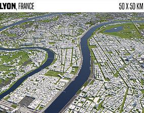 Lyon France 3D model