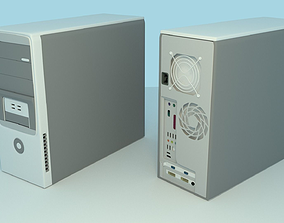 Computer 3D asset low-poly