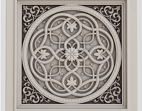 Decorative panel 4 square 3D model