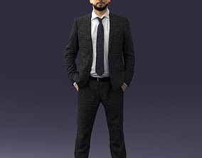 Man in suit 0809 3D model