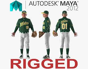 3D model Baseball Player Rigged Athletics for Maya