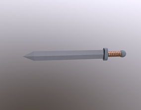 Roman Short Sword Gladius 3D model