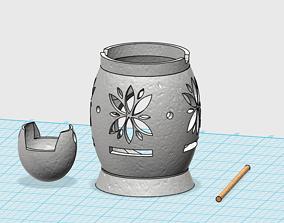 3D print model furniture candle holder
