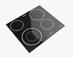 3D asset Gas Cooktop no8 Electrolux