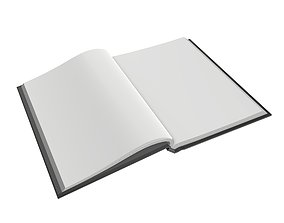 3D Notebook opened size A6