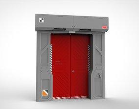 panel 3D model sci fi door 11