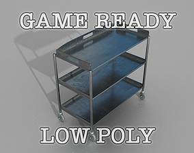 3D model Trolley low poly game ready