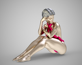 Fashion Pose 4 3D printable model