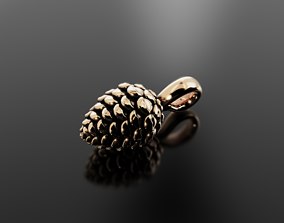 3D print model Pine cone pendant for graceful and 2