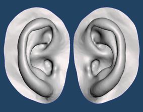 Natural human ear anatomy 09 3D printable model