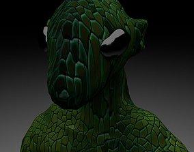 3D model low-poly Alien Reptile 1 - Material c