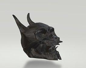 3D print model Horned Skull