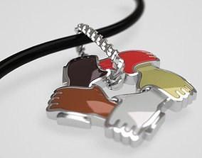 International pendant - pin - badge - 3D print model