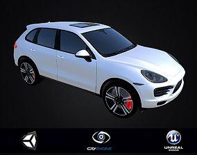 realtime Porsche Cayenne DAE FBX OBJ 3D Printable STL