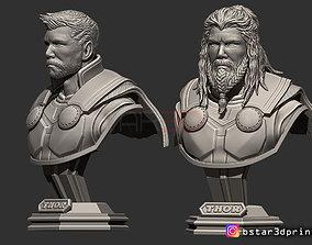 3D printable model Thor Bust Avenger 4 bust - 2 Heads - 4