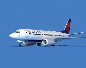 3D Boeing 737 MAX 7 Delta