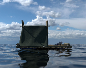 3D model Photorealistic Raft LowPoly
