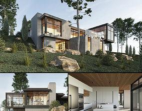 3D model Long Horizontals House