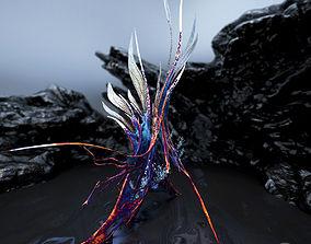 Alien Plant Fern Type 6 3D asset