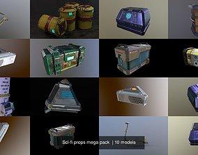 Sci-fi props mega pack 3D