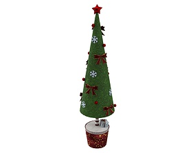 3D asset VR / AR ready Toy Christmas Tree