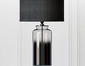Cox and Cox Grey Smoke Glass Table Lamp 3D