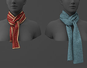 scarf 3d model clothing