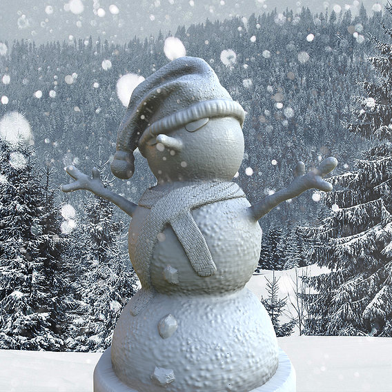 Snowman for 3dPrinting