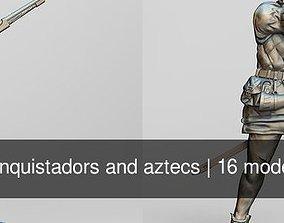 conquistadors and aztecs 3D model