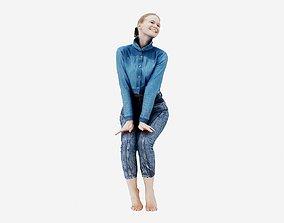 3D asset Jeans Pants 020