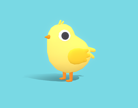 Chip The Chick - Quirky Series 3D model animated