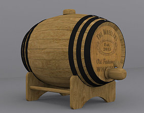 3D asset Whiskey barrel