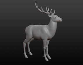 3D model Deer base mesh