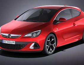 Opel Astra OPC 2015 VRAY 3D model