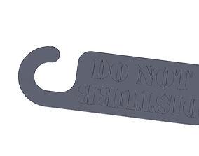 3D printable model Do Not Disturb Door Hanger
