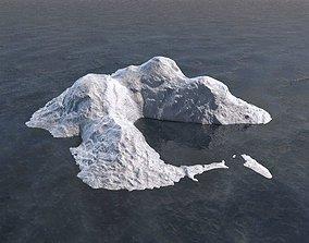 3D asset Iceberg Ice block