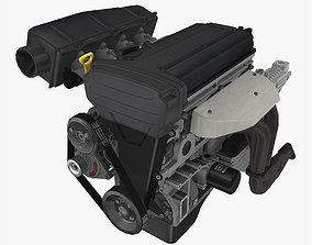 Toyota 4AGE Blacktop 20v engine 3D model