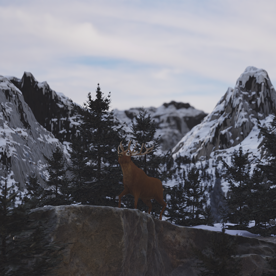 Deer in the mountains