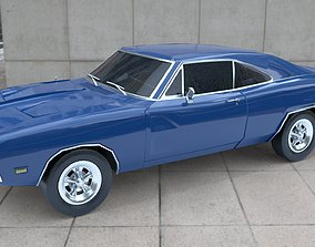 3D asset Dodge Charger RT 1968