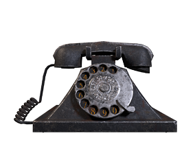 3D asset Retro Telephone - Low poly Game ready - Unreal