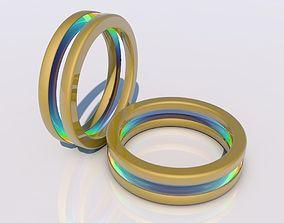 3D Multicolored futuristic ring