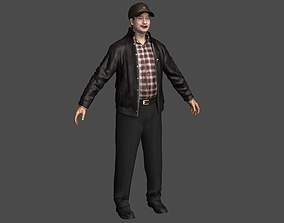 Middle-aged Eastern Man Uncle businessmen 3D asset