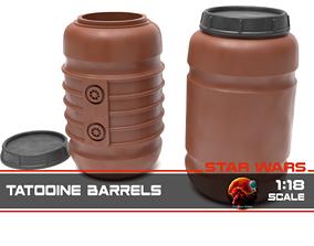 Star Wars Tantooine Barrels 1-18 scale 3D printable model