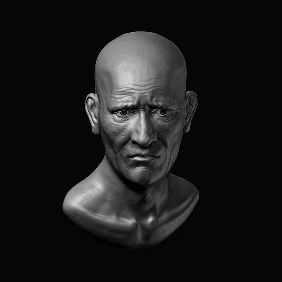 Old man sculpt