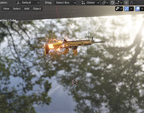 Scar 3d particle system F type skin Rifle