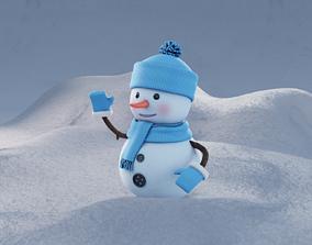 3D winter holiday Snowman