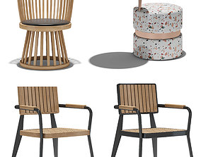 3D model furnishing blanc chair