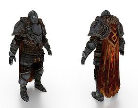 Soldier Caped Steel Full Body Armor 3D model