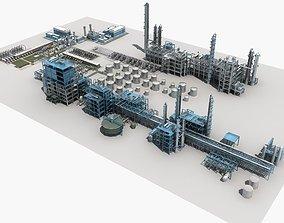 Refinery Unit pipe 3D model