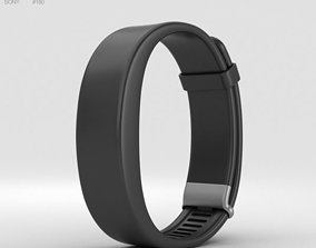 3D Sony Smartband 2 Black